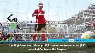 Résumé rapide - Nigéria 2-0 Corée du Sud