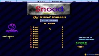 Snood gameplay (PC Game, 1996)