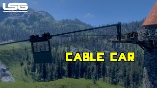 Medieval Engineers - Cable Car, Monorail Prototype