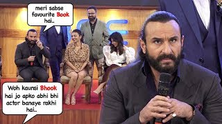 Saif Ali Khan's DUMB Reply To Reporters Question At Baazaar Trailer Launch