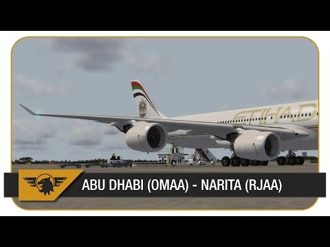[P3D] ETD878/EY878 | Abu Dhabi (OMAA) - Narita (RJAA) | Blackbox A340-600 | VATSIM