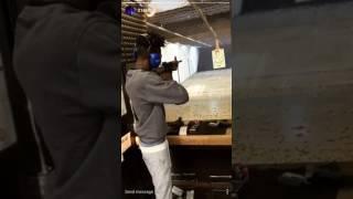 21 Savage at a shooting range on Instagram