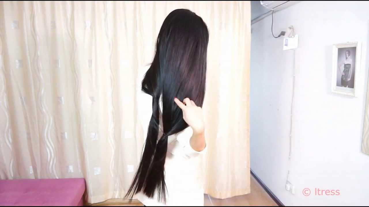 Hu Di very long silky hair shake