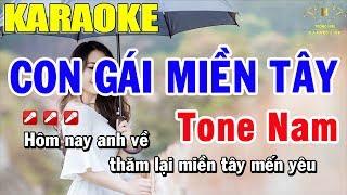 Karaoke Con Gái Miền Tây Tone Nam Nhạc Sống | Trọng Hiếu