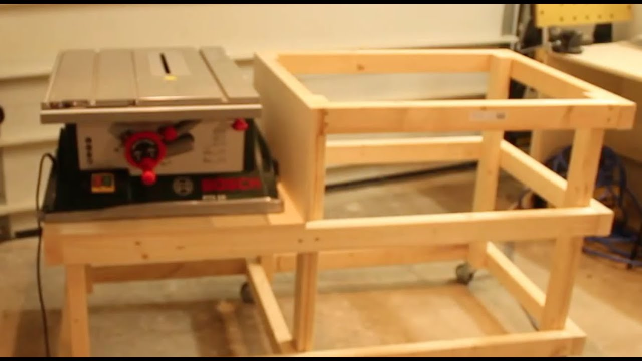 Table Saw Extension Cabinet Part 1 Youtube