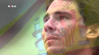 RG 2013: Emotional Rafa Nadal Trophy Ceremony National Anthem of Spain
