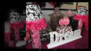 Mimi's Pink & Damask Baby Shower Candy Buffet Bar Hollywood