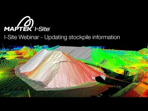 I-Site Webinar - Updating Pit Topography and Stockpile Information with Minimal Scanning