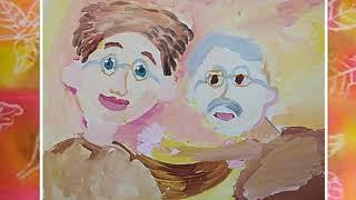 Слайд фильм детских работ Бабушки и дедушки