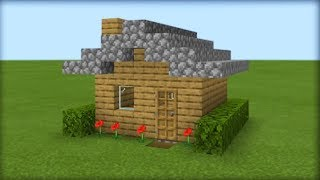 Minecraft Tutorial: How To Make The Easiest Wooden Survival House Ever Made
