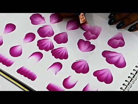 Learn How To Make BASIC FLAT BRUSH STROKES | Beginners Guide To Learn Basics Of