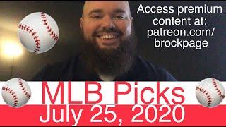 ⚾️ MLB Picks (7-25-20) Baseball Predictions & Daily Vegas Sports Betting Odds ⚾️ Probables & Stats