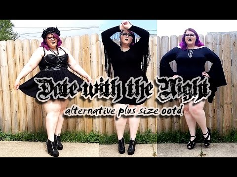 Date With The Night Plus Size Alternative Ootd Look Book 1 Video