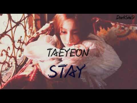 Free Download Taeyeon - Stay Lyrics (kanji/rom/indo/eng) Mp3 dan Mp4