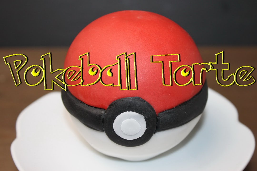 Pokeball Torte selber machen - 3D Motivtorten mit Fondant ...