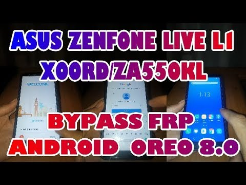 Bypass FRP Asus Zenfone Live L1 X00RD Android 8.0 Oreo Done 100% By didy_bukit