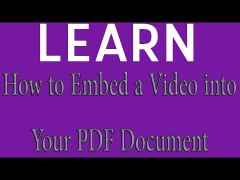 Interactive PDF Tutorial: Placing Video In A PDF | Or Adding Video To A PDF In Adobe Acrobat