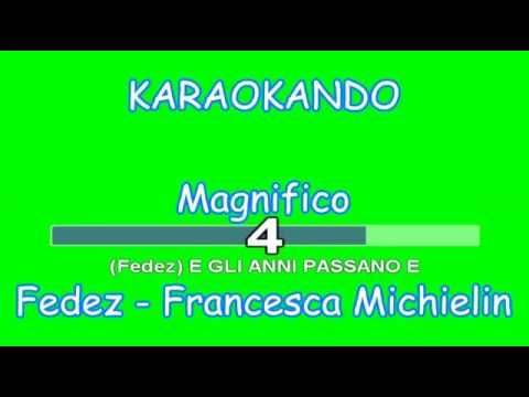 Karaoke - Magnifico - Fedez - Francesca Michielin ( Testo )