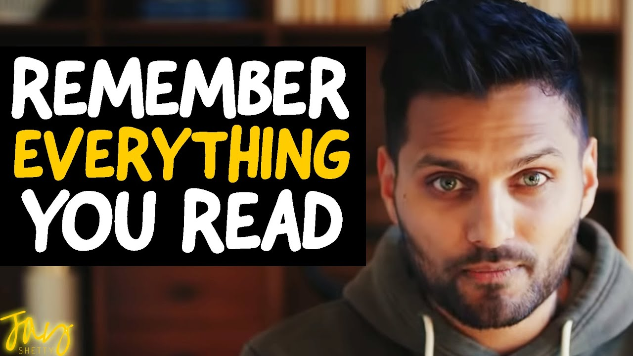 """The 6 SIMPLE HACKS To Remember EVERYTHING You Read!"" 