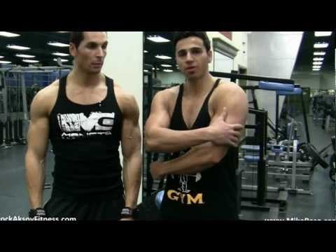 TRICEPS SUPERSET- Rope Exercise Mike Raso & Brock Aksoy