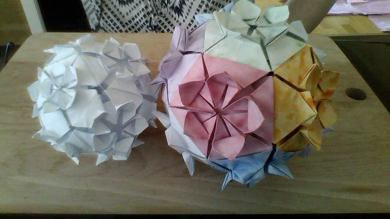 Flower Ball Origami 12 Pieces Youtube