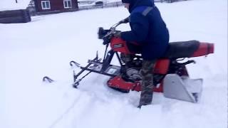 як зробити снігохід з мотоцикла іж планета 5