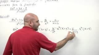 Fracciones parciales - Factores lineales repetidos