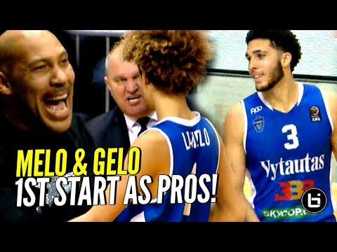 LaMelo & LiAngelo Ball FIRST START AS PROS! Gelo LOOKING GOOD OUT THERE!!