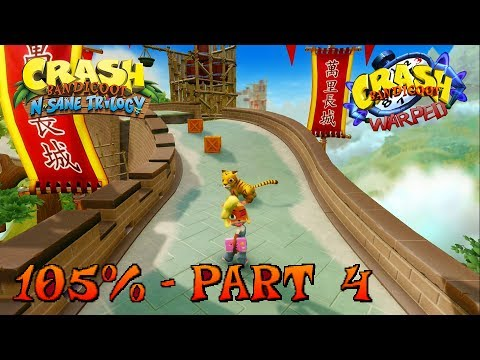 Crash Bandicoot 3 - N. Sane Trilogy - 105% Walkthrough, Part 4: Orient Express (Gem)