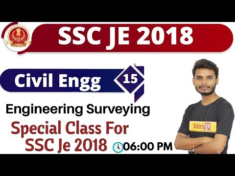 Class-15 || SSC JE 2018 || Civil Engg || By Ajay Sir || Engineering Surveying