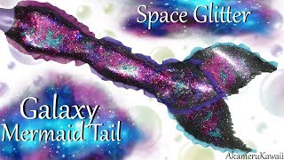 DIY Galaxy Mermaid Tail - Glitter Poseable Doll Tutorial
