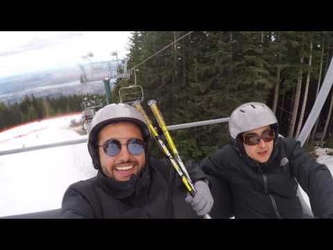 Grouse Mountain Vancouver April 2017, Ski Day Discovery First Time