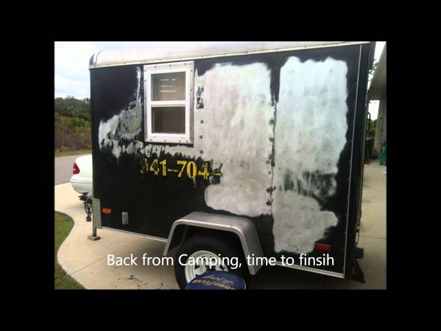 5 Foot By 8 Cargo Trailer Converted Into Small Camper VIDEO