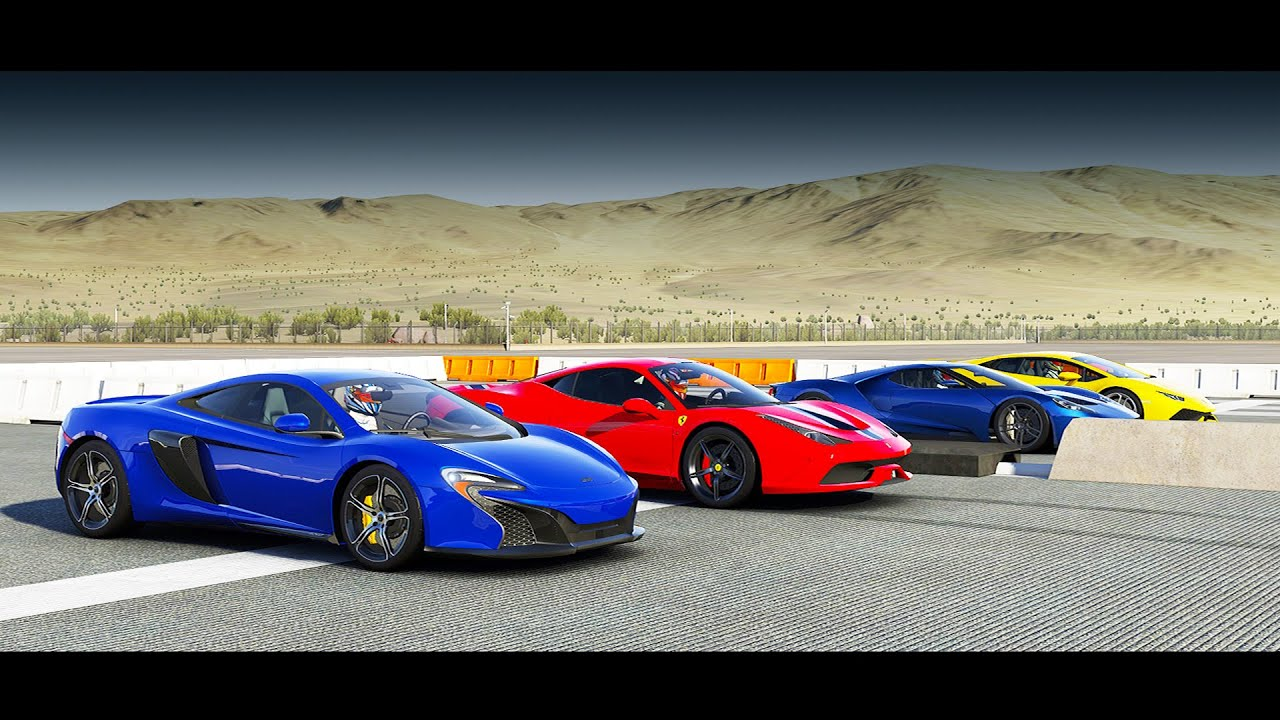 forza 6 drag race 2017 ford gt vs mclaren 650s ferrari. Black Bedroom Furniture Sets. Home Design Ideas