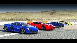 Forza 6 Drag Race: 2017 Ford GT vs McLaren 650s, Ferrari 458 Speciale, Lamborghini Hurácan