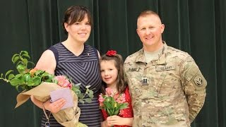 Army Dad Returns Home To Surprise 2nd Grade Daughter During School Assembly