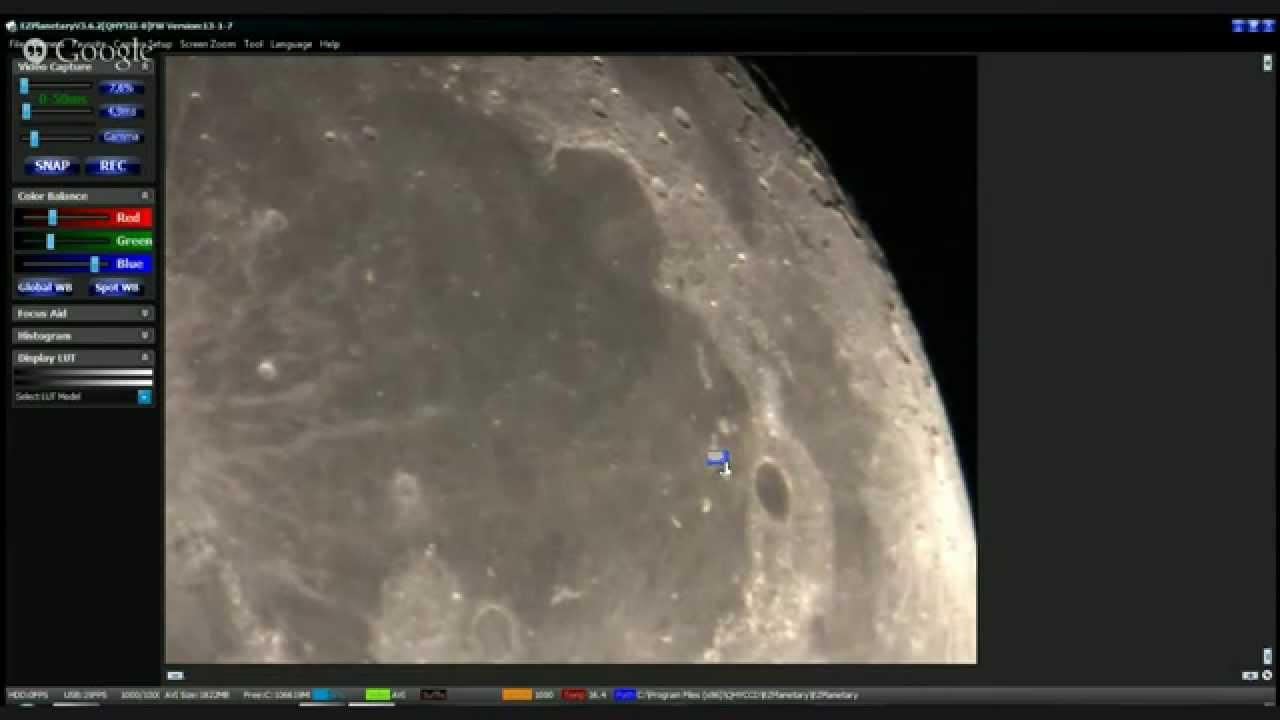 moon through amateur telescope [live] - youtube