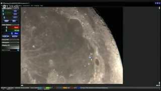 Moon through Amateur Telescope [LIVE]
