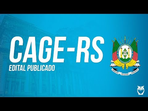 Concurso CAGE-RS - Análise Edital Auditor do Estado 2017