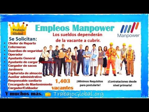 🎢 OFERTA de EMPLEOS 2021 - 2022 🃏 VACANTES Disponibles en Manpower