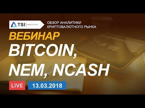 ВЕБИНАР! Bitcoin, NEM, NCASH — обзор криптовалют | Прогноз цены на Биткоин, Нэм, Криптовалюты