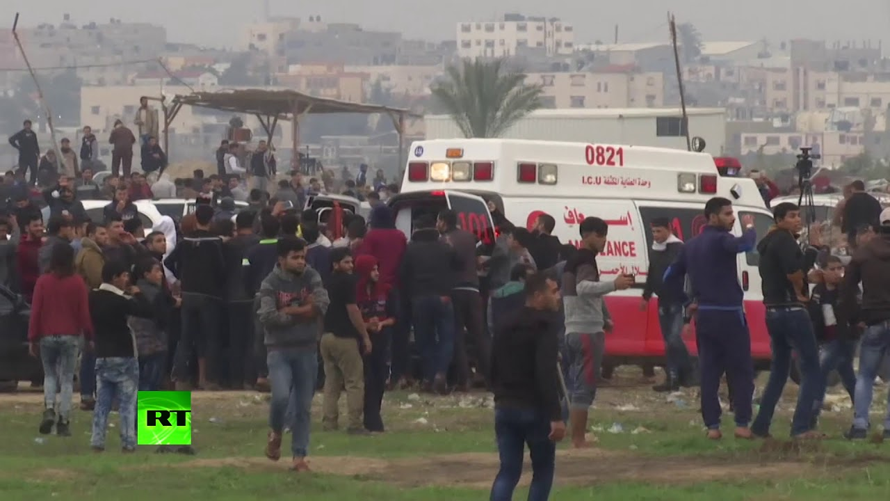 Dozens injured as violent protests erupt in Gaza