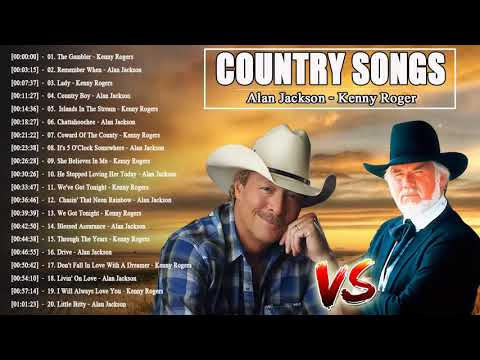 Kenny Rogers, Alan Jackson Greatest Hits 2018  Best Country Songs Kenny Rogers, Alan Jackson