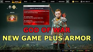 God of War How to Unlock New Game Plus Armor