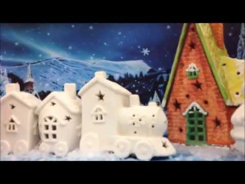 ready to decorate ceramic christmas trees houses and snowmen - Ceramic Christmas Houses