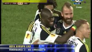fenerbahe 2 0 ael limassol highlights goals 08 11 2012