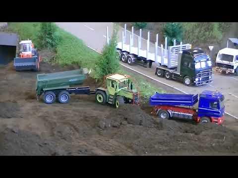 rc truck action lkw trucks baufahrzeuge bagger aktion