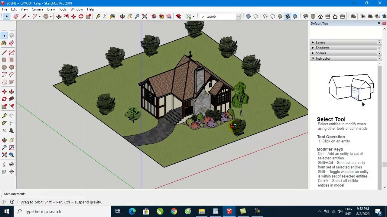 Hướng dẫn tạo SCENES trong Sketchup để trình bày mô hình 3D sang Layout Sketchup