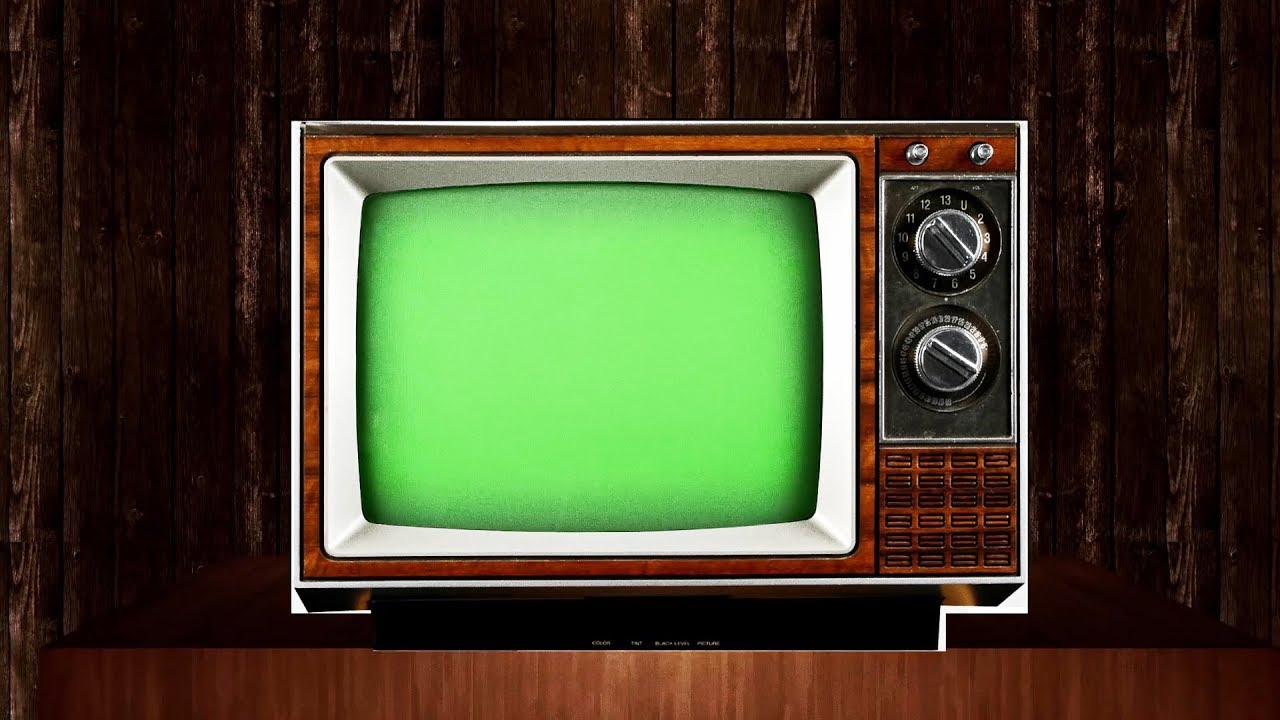 Old Tv Green Screen Pack 3  5 Videos