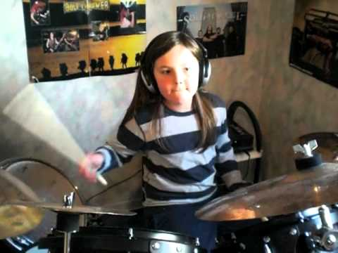 Kataklysm - As I Slither drumcover by 8 year old boy